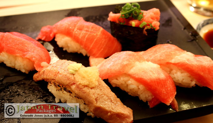 Sushi in Ginza for Japan Travel Packages