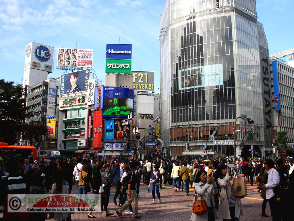 Shibuya Tokyo for Japan Travel Packages (JapanTravelPackages.com)